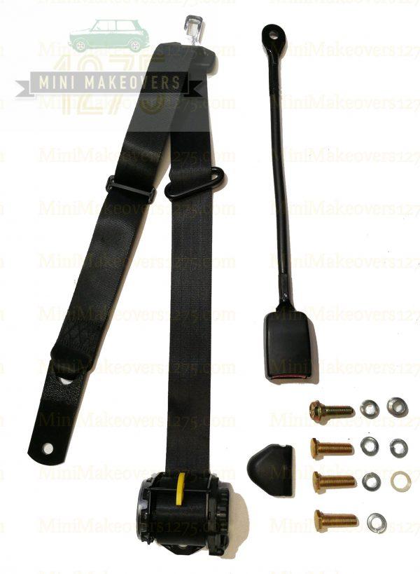 Moke Front APV Lap sash 400mm Stalk Retractable Seat Belt