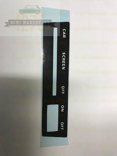 Rover Mini & Moke Heater Sticker