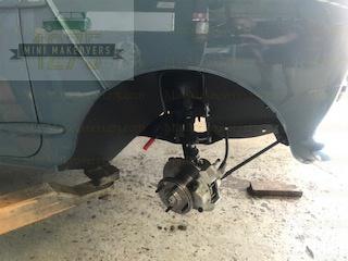Mini Moke front wheel