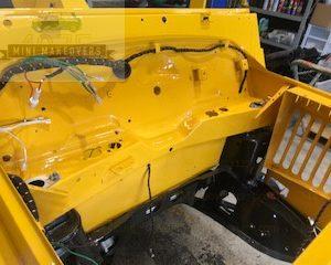 Yellow moke panel